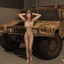Redhead futanari army officer presents her biggest gun!