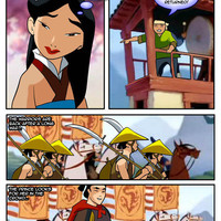 Lovely Mulan spreads her wet pussy for the Prince's army men. Part I.