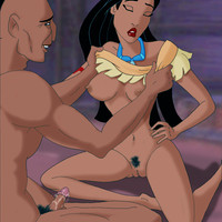 Pocahontas takes her lover's hard dick up her pussy