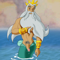 King Triton shows us his well hung cock!