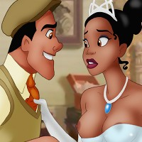Tiana giving Prince Naveen some wicked head!