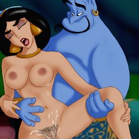 Genie giving Jasmine a very erotic fuck