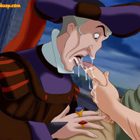 Quasimodo gets a gay blowjob from Frollo!