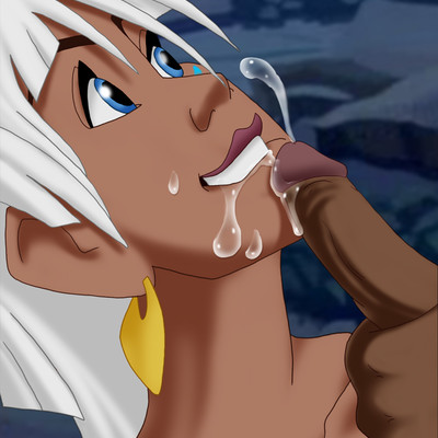 Kida in blowjob action