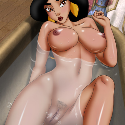 Princess Jasmine takes a bath