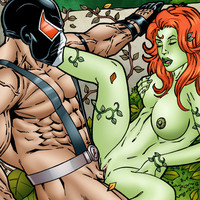 Poison Ivy getting hardcore sex from the powerful Bane!