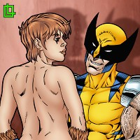 Wolverine getting a blowjob from Squirrel Girl