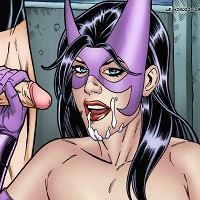 Huntress and Nightwing enjoying hardcore anal sex