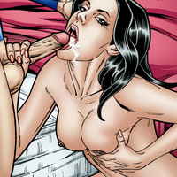 Naughty Lois Lane pegging Superman's ass!