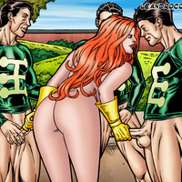 Siryn triple teamed by Multiple Man!