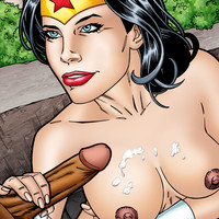 Wonder Woman fucked and jizzed on by Luke Cage!