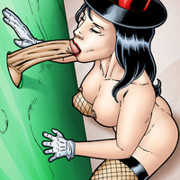 Zatanna as a gloryhole