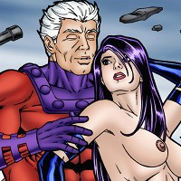 Magneto has kinky sex with Psylocke