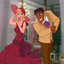 Hot blonde Lottie and Prince Naveen cum together!