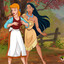 Pocahontas and Cinderella have kinky lesbian sex together!