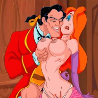 Jessica gets fucked doggy style by Gaston!